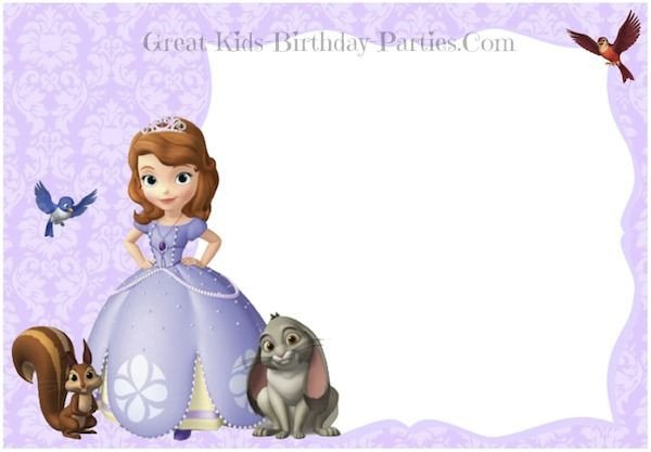 Sofia the First Invitation Templates sofia the First Invitations In 2019