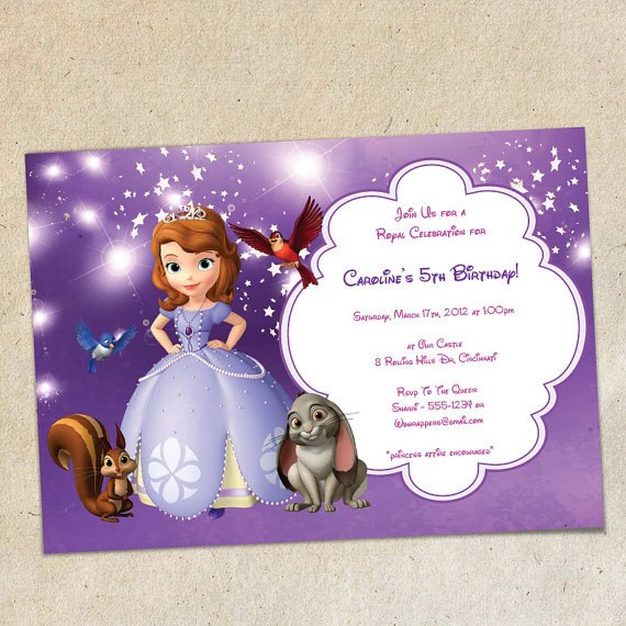 Sofia the First Invitation Templates sofia the First Party Invitation Template Instant Download