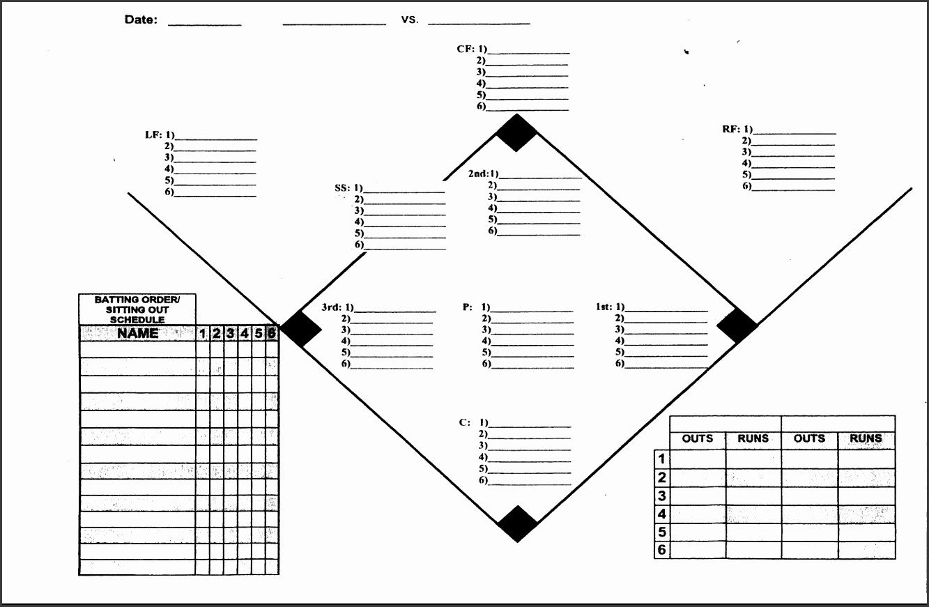 Softball Depth Chart 5 Baseball Depth Chart Template Sampletemplatess