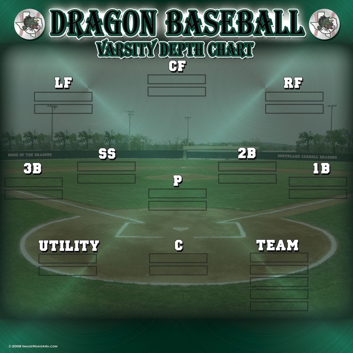 Softball Depth Chart Baseball & softball Image Maker