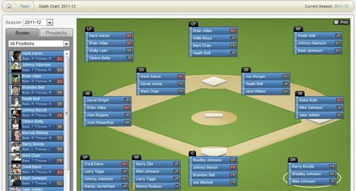 Softball Depth Chart Baseball Depth Charts Depthchartfieldpreview