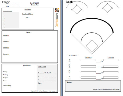 Softball Depth Chart Download Printable Baseball Depth Chart Template