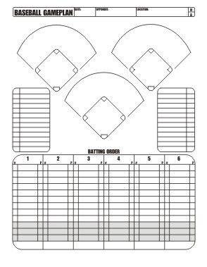 Softball Depth Chart Free Download Little League Baseball Game Plan