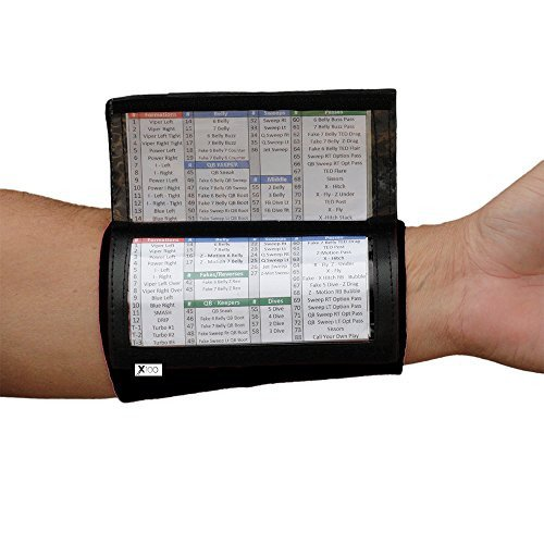 Softball Wristband Template Quarterback Playbook Football Wristband Triple Window