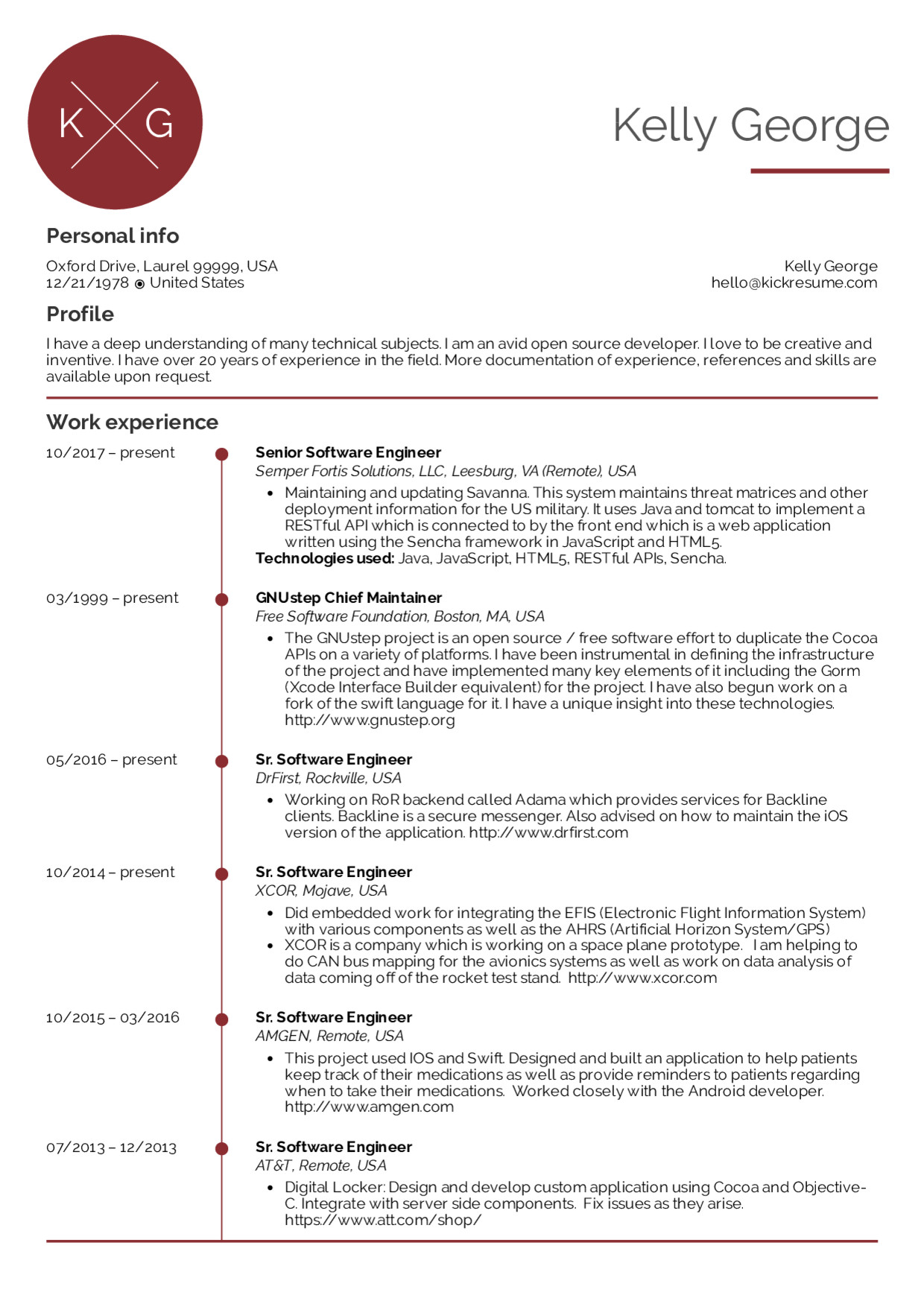Software Engineering Resume Template Resume Examples by Real People Senior software Engineer