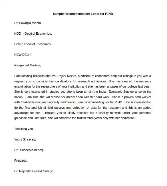 Sorority Recommendation Letter Template 30 Re Mendation Letter Templates Pdf Doc