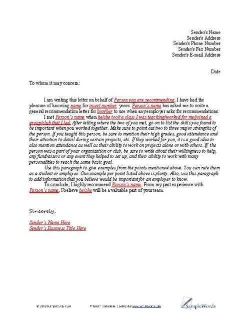 Sorority Recommendation Letter Template Letter Of Re Mendation Sample Employment