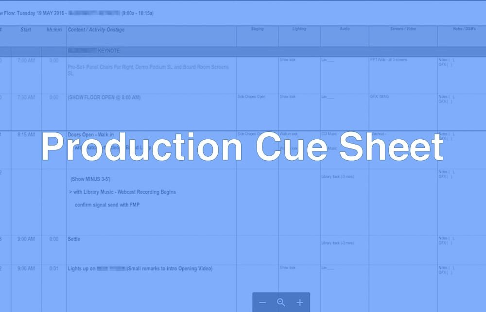 Sound Cue Sheet Template What is A Production Cue Sheet