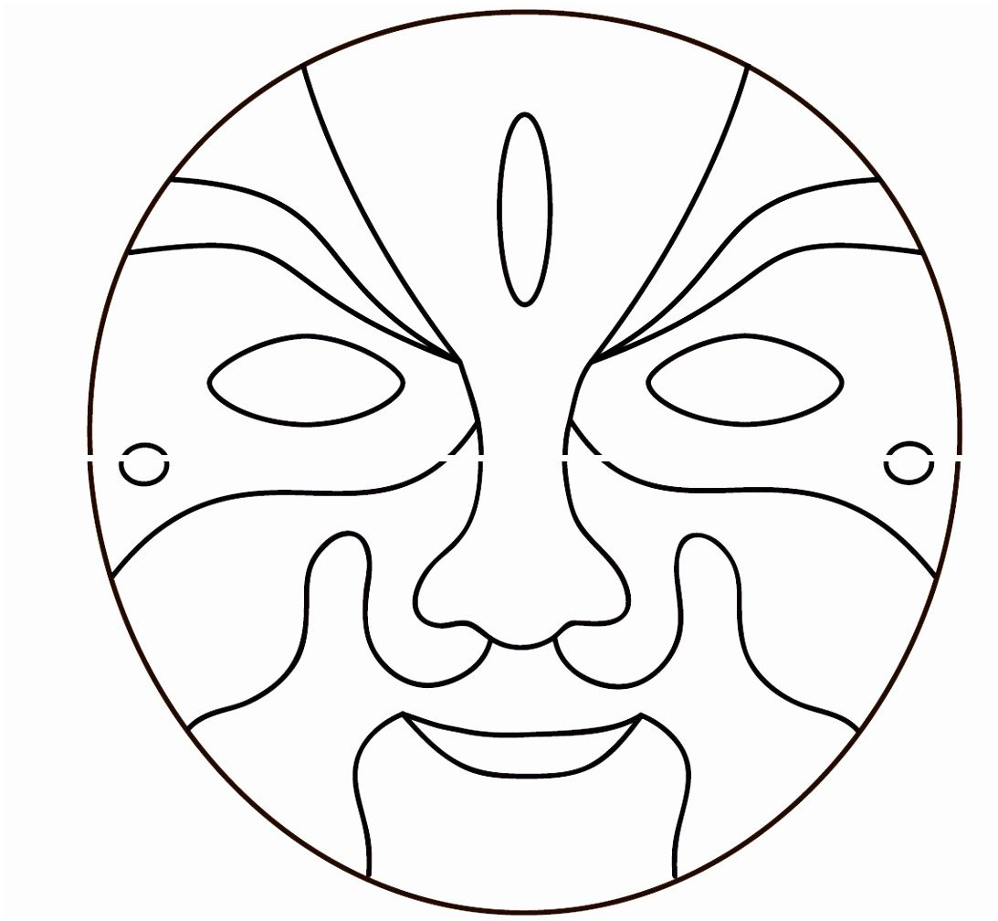 Spa Mask Template 5 Face Mask Templates Printable Kixty