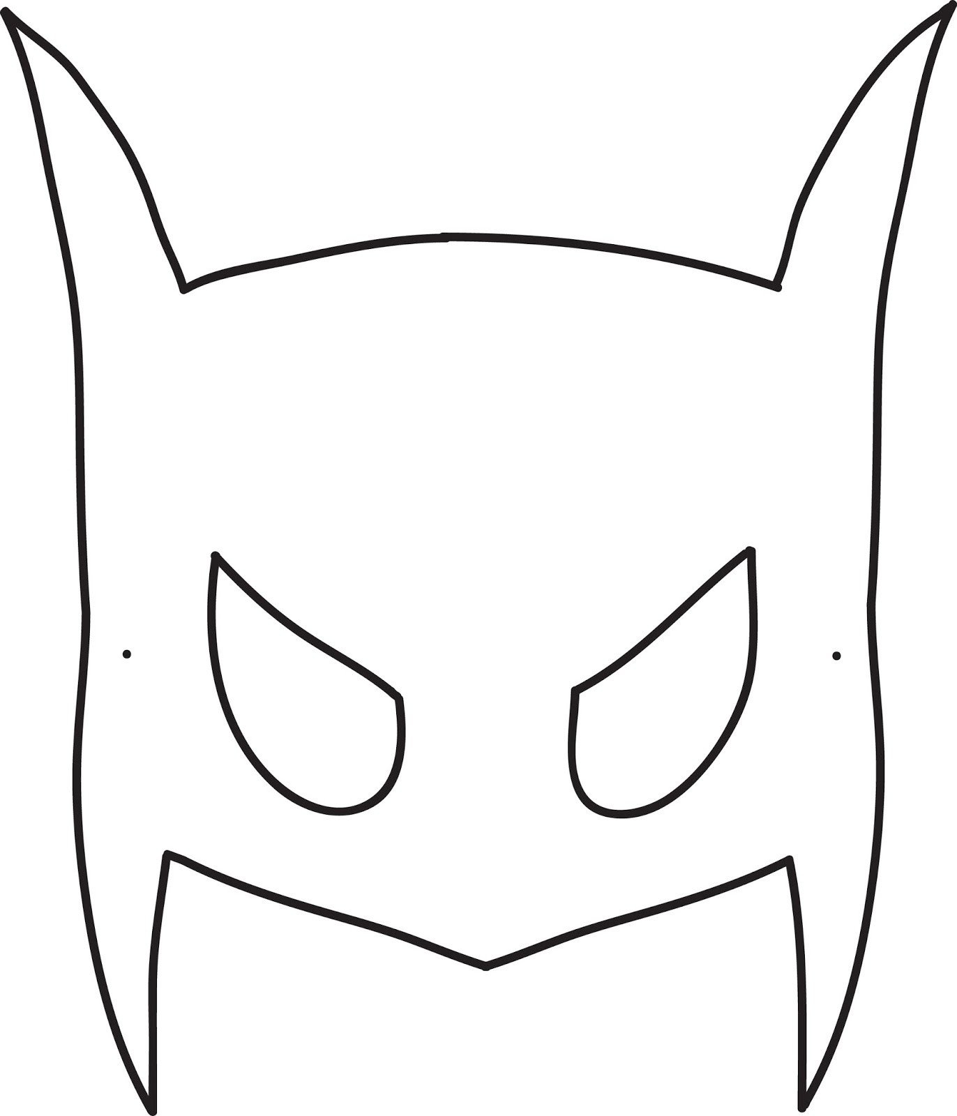 Spa Mask Template Batman Mask