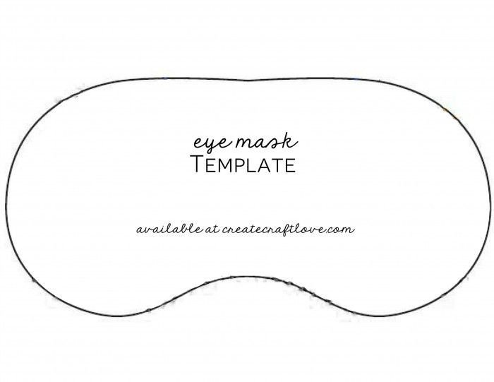 Spa Mask Template Diy Eye Mask
