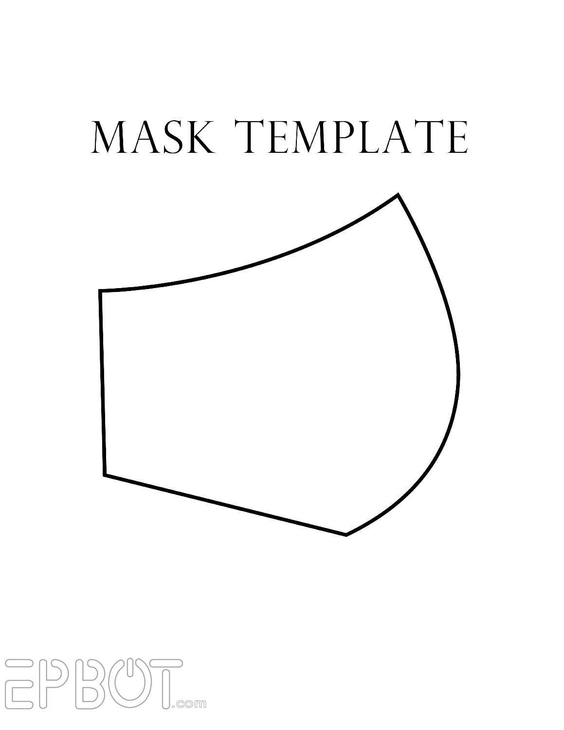 "Spa Mask Template Epbot My Faux ""respirator"" Mask for Cons Free Template"