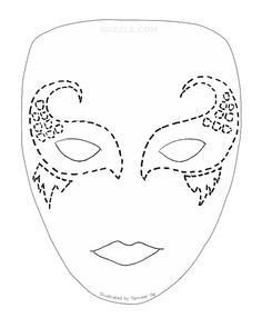 Spa Mask Template Full Face Mask Template Google Search