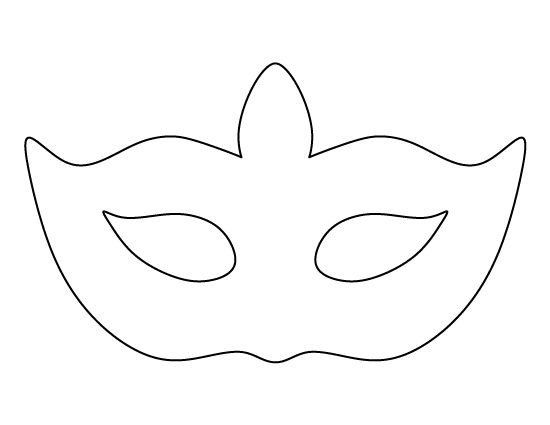 Spa Mask Template Masquerade Mask Pattern Use the Printable Outline for