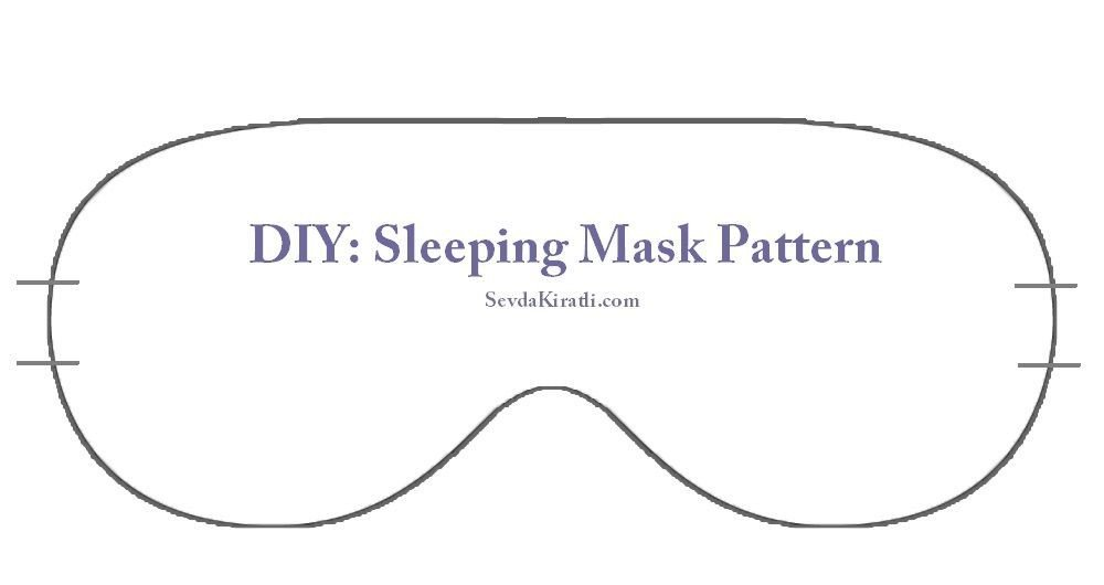 Spa Mask Template Sleep Mask Printable Template Dim Pinterest