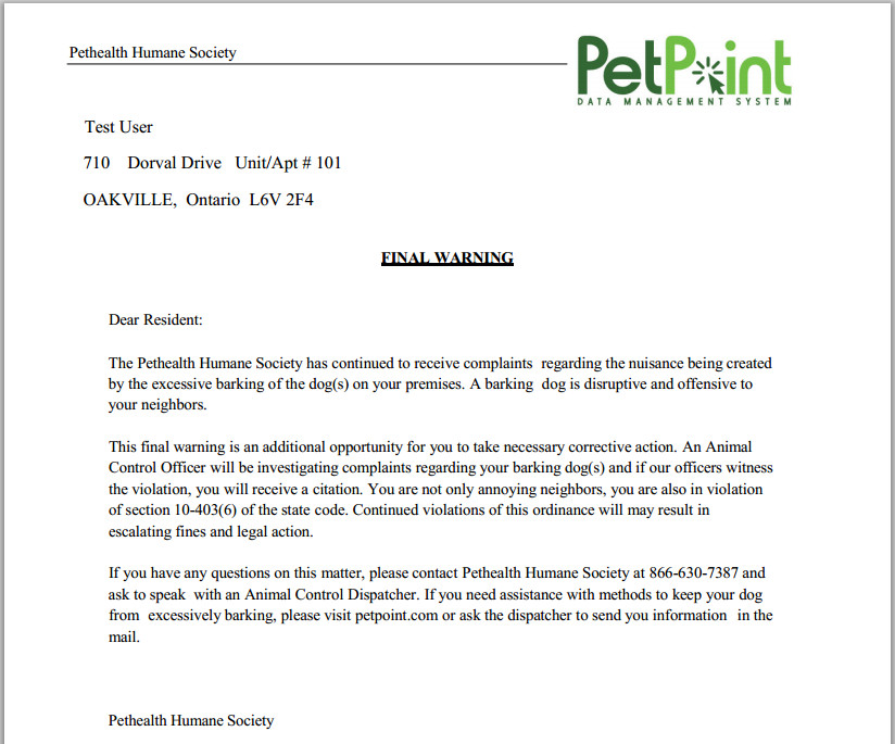 Spay and Neuter Contract Template Petpoint Line Help Petpoint Document Builder