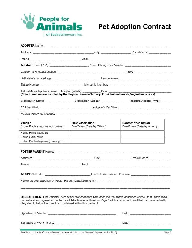 Spay and Neuter Contract Template Spay Neuter Agreement Contract