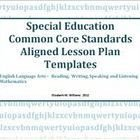 Special Ed Lesson Plan Templates Daily Weekly Mon Core State Standards Based Lesson Plan