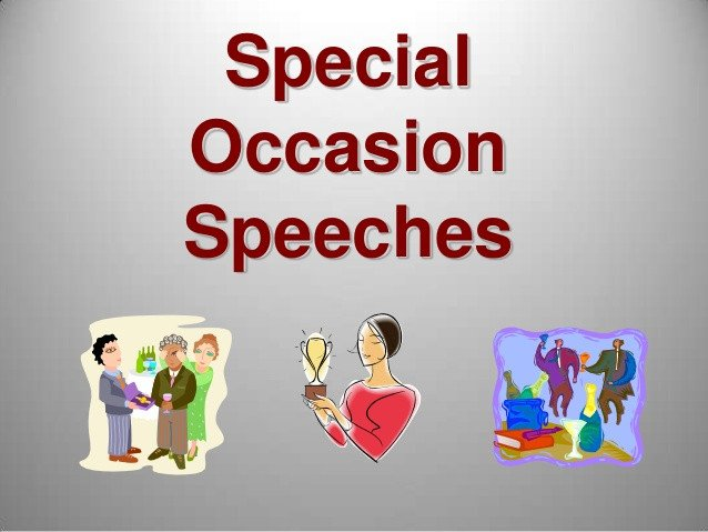 Special Occasion Speech Outlines M8 Special Occasion Speeches