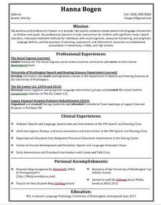 Speech Language Pathologist Resumes Speech Language Pathologist Resume Sample My Perfect