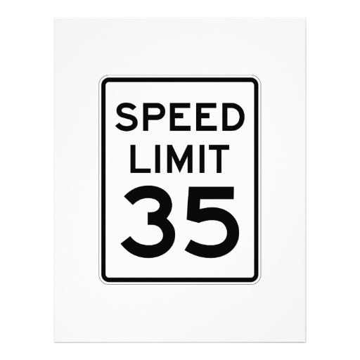 Speed Limit Sign Template Speed Limit 35 Mph Sign Letterhead Template