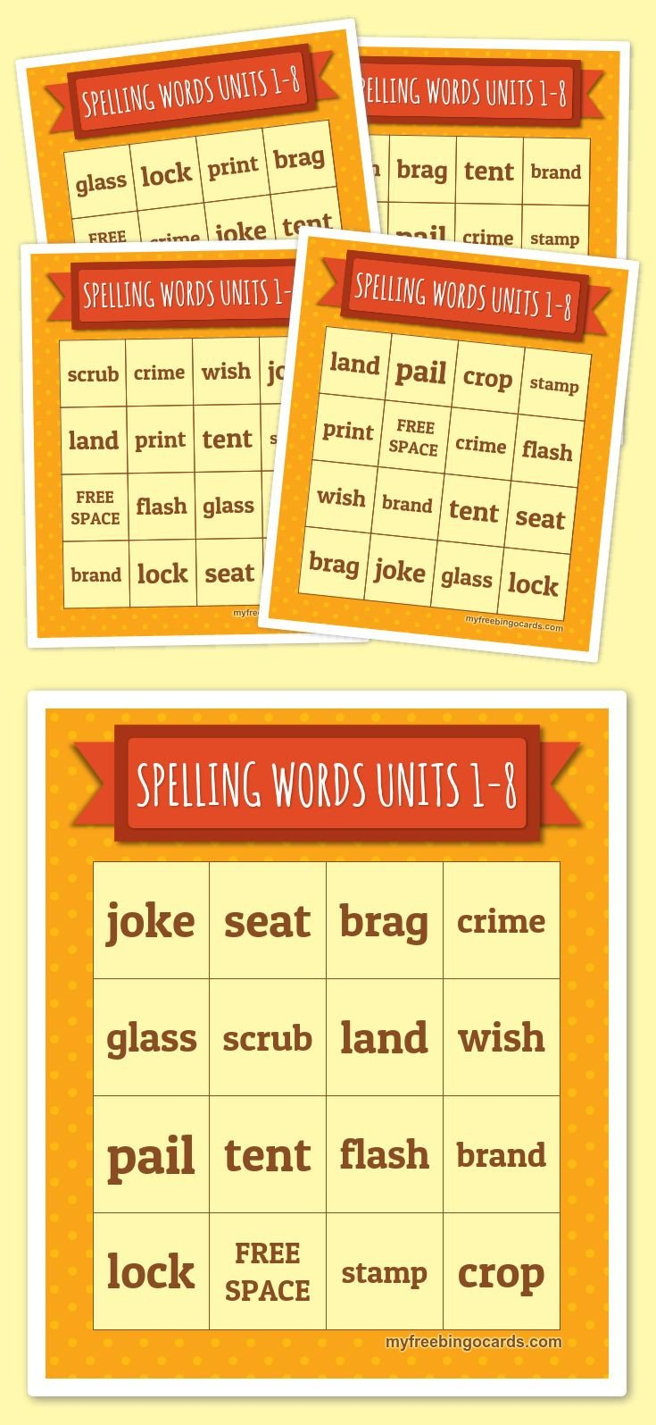 Spelling Bingo Board 17 Best Images About Bingo Teaching Resources On
