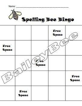 Spelling Bingo Board 17 Best Images About Spelling Bee On Pinterest