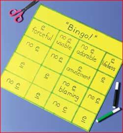 Spelling Bingo Board Hands Spelling Page 92