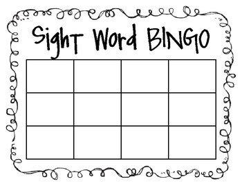 Spelling Bingo Board Sight Word Spelling Word Bingo by Angie Neal