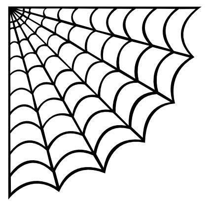 Spider Web Outline 25 Best Ideas About Spider Web Drawing On Pinterest