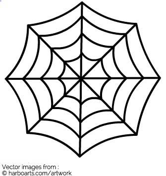 Spider Web Outline Download Spider Web Vector Graphic