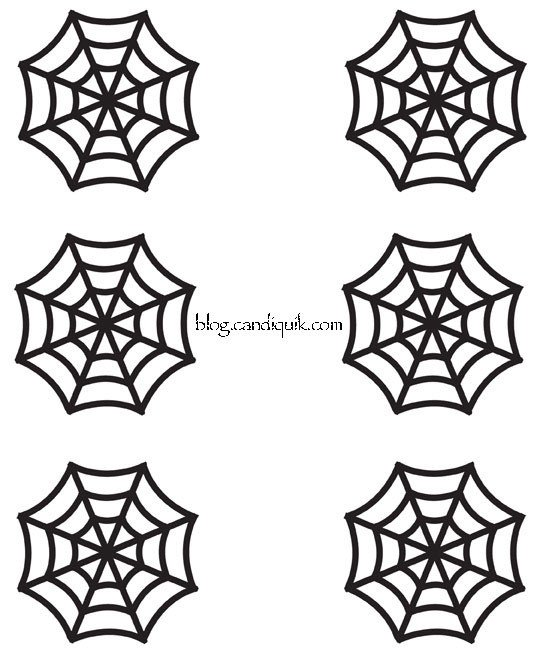 Spider Web Outline Easy Diy Halloween Cupcake toppers