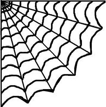 Spider Web Outline Hot Glue Spiderweb Diy Education