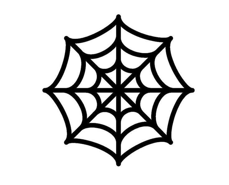Spider Web Outline Spider S Web Templates Halloween Google Search