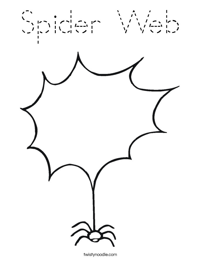 Spider Web Outline Spider Web Coloring Page Tracing Twisty Noodle