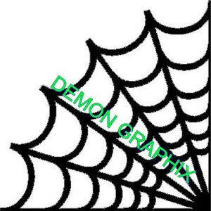 Spider Web Outline Spider Web Corner Vinyl Decal Sticker Outline Cobweb Jdm