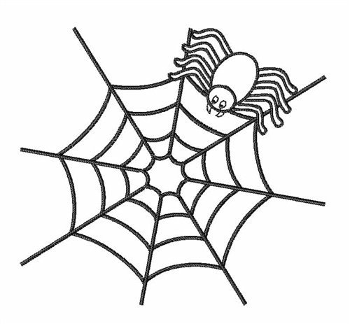 Spider Web Outline Spider Web Outline Embroidery Design