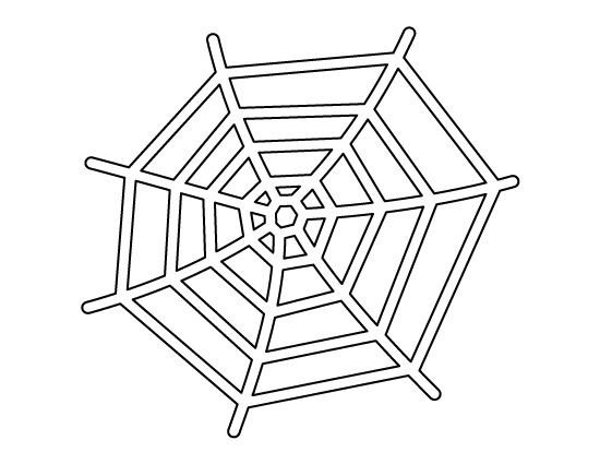 Spider Web Outline Spider Web Pattern Use the Printable Outline for Crafts