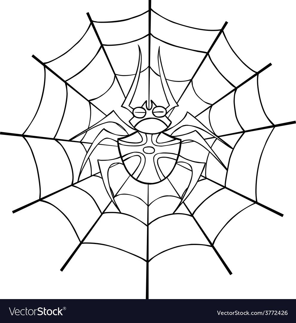 Spider Web Outline Spider Web Tattoo Outline Royalty Free Vector Image