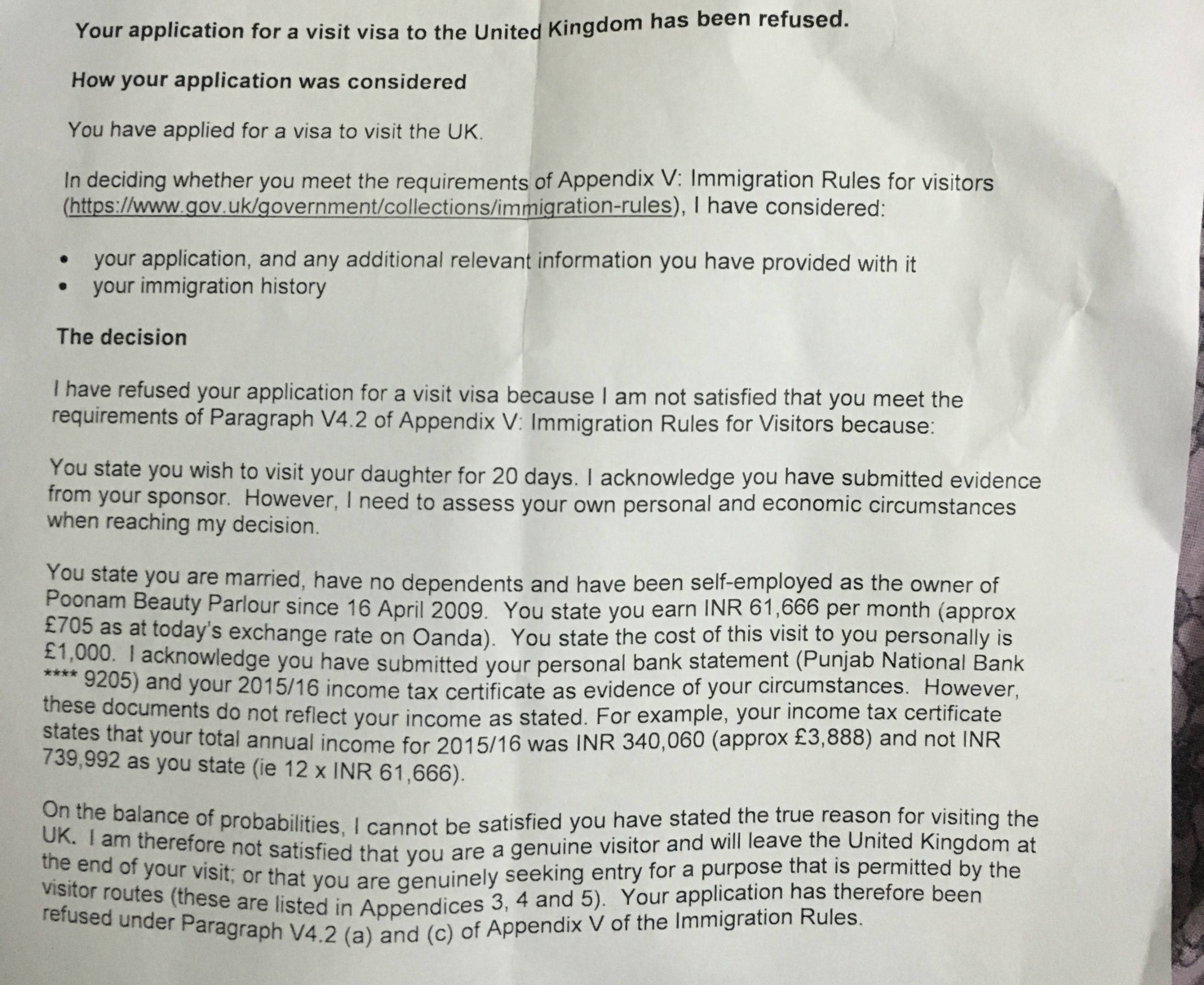 Sponsor Letter for Visa Uk Visitor Visa Refused Multiple Sponsors Travel Stack