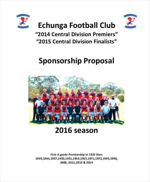 Sponsorship form for Sports Team 49 Proposal Samples In Pdf