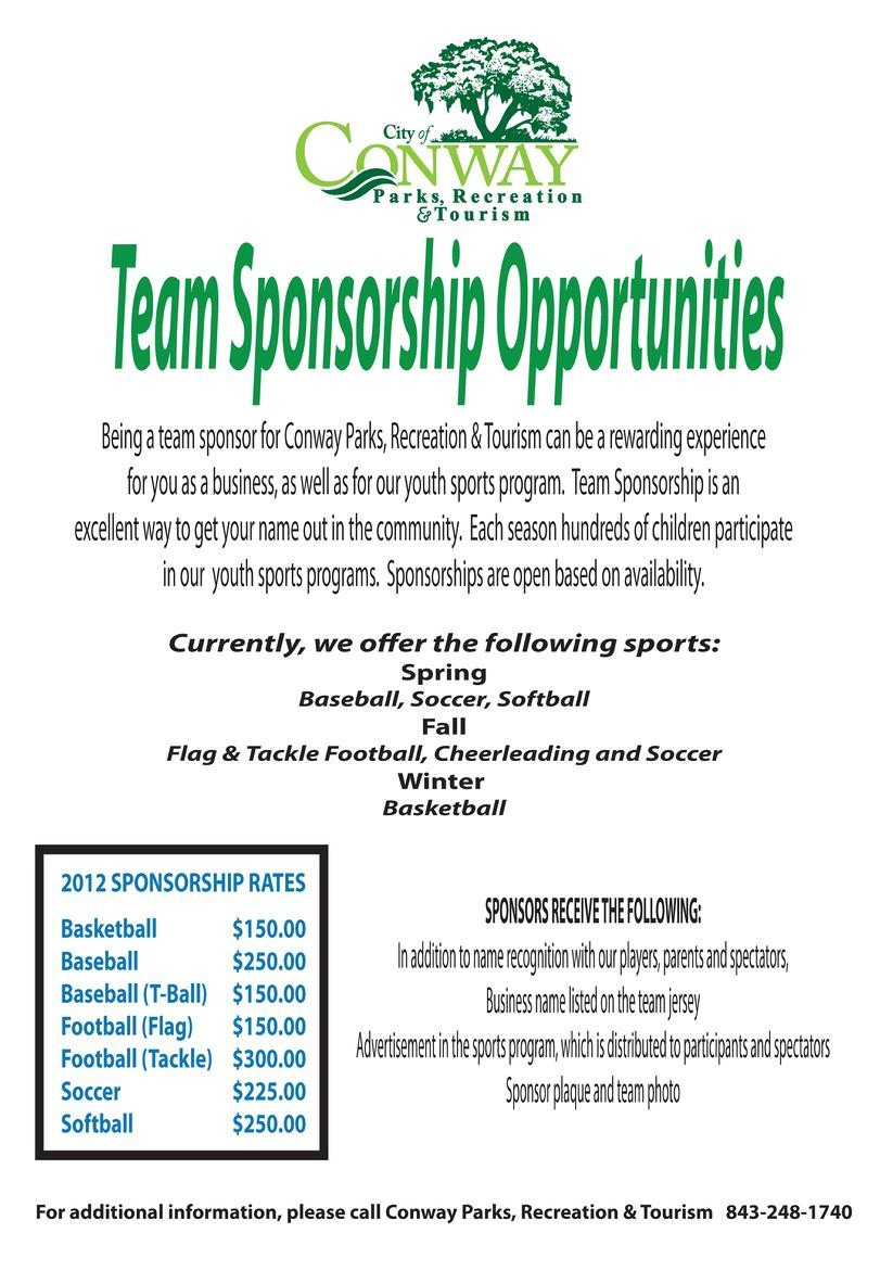 Sponsorship form for Sports Team Click Here to Download A Team Sponsorship form