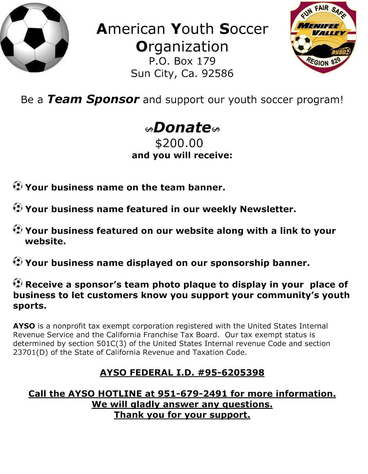 Sponsorship form for Sports Team Image Result for Team Sponsorship Letter