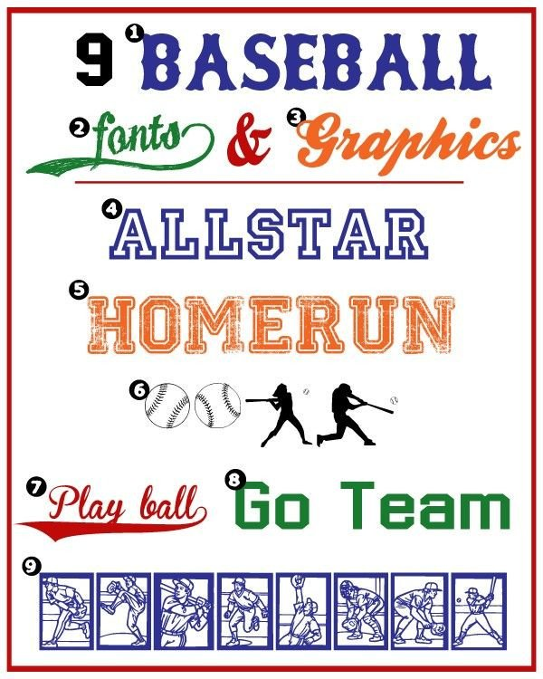 Sports Fonts In Word Baseball Fonts & Graphics