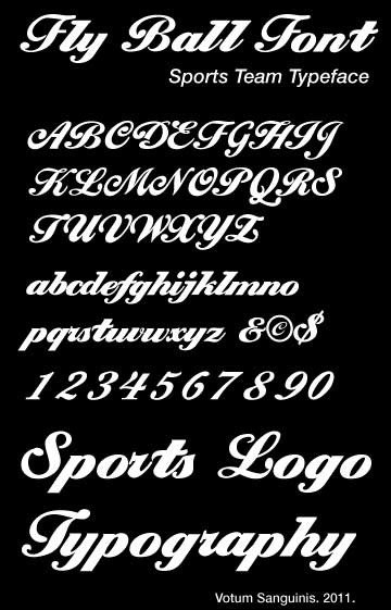 Sports Fonts In Word Presenting Fly Ball Demi Font – A Cursive Typeface for