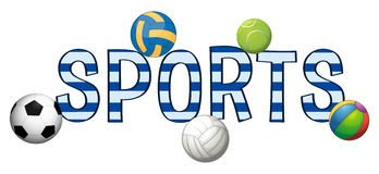 Sports Fonts In Word Tennis Word Art Illustration Stock Vector Image