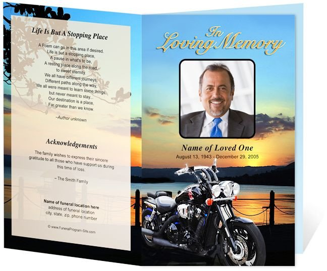 Sports Program Template Microsoft Word 17 Best Images About Creative Memorials with Funeral