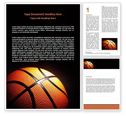 Sports Program Template Microsoft Word Basketball Ball On Nba Colors Floor Word Template