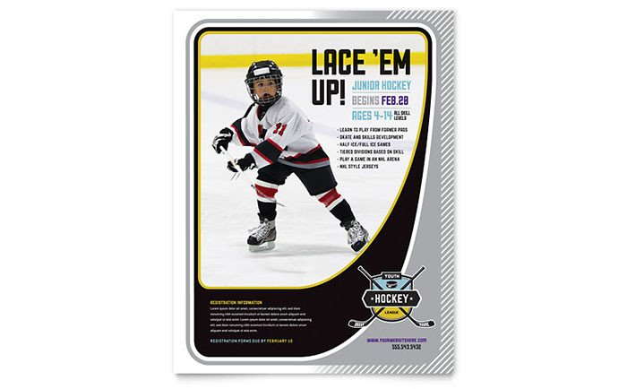 Sports Program Template Microsoft Word Junior Hockey Camp Flyer Template Word & Publisher