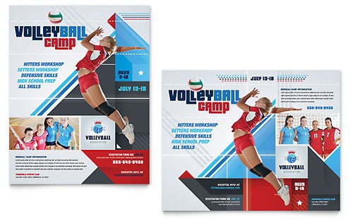Sports Program Template Microsoft Word Poster Templates Indesign Illustrator Publisher Word